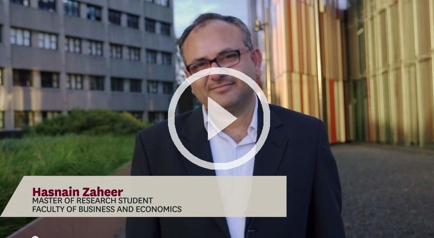 Hasnain Zaheer - Master fo Research testimonial