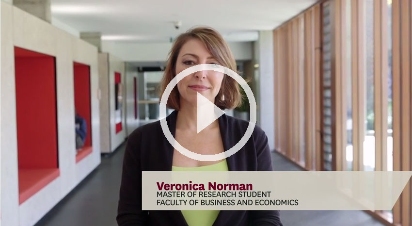 Veronice Norman - Master of Research testimonial