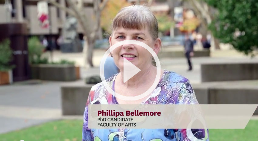 Phillipa Bellmore - Master of Research testimonial
